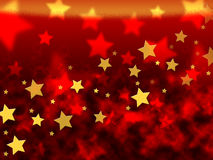 Orange Stars Background Means Brightness In Heavens Stock Photo