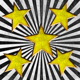Orange stars on grunge background Stock Image