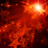Orange stars with lights Stock Images
