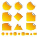 Orange Stickers Stock Photos