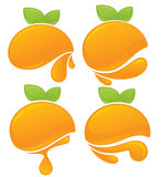 Orange stickers Stock Photography