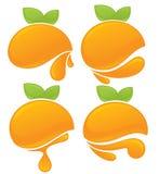 Orange stickers Stock Photography