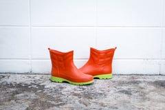 Orange Stiefel Lizenzfreies Stockbild
