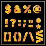 Orange stilisiertes Symboldesign des Emailmosaiks jewerly Lizenzfreie Stockfotos