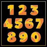 Orange stilisiertes Zahldesign des Emails jewerly Lizenzfreie Stockbilder