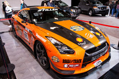 Orange Stillen GT-R at the 2010 Toronto Auto Show Stock Photography