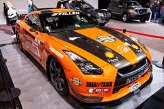 Orange Stillen GT-R at the 2010 Toronto Auto Show. Orange stillen GT-R race car at the 2010 Canadian International Auto Show, Toronto, Canada Stock Photography