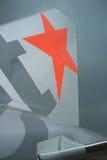 Orange stjärna - logoJetstar Stillahavs- flygbuss A320 royaltyfri bild