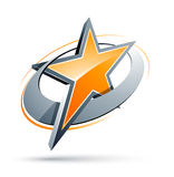 orange stjärna Royaltyfri Bild