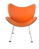 Orange stol som isoleras på vit bakgrund Royaltyfria Bilder