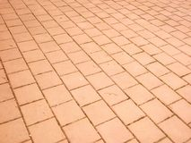 Orange stone pavement Royalty Free Stock Images