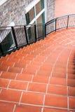 Orange stone stairs Royalty Free Stock Image