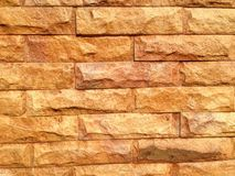 Orange stone wall. Royalty Free Stock Photography