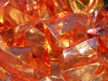 Orange stones pile close up Stock Image
