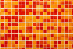 Orange stoneware tile Stock Photos
