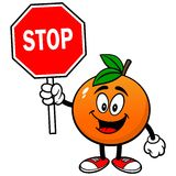 Orange with Stop Sign Stock Images
