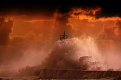 Orange storm Royalty Free Stock Images