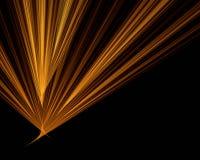 Orange Strahlen auf schwarzem Hintergrund