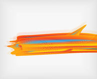 Orange straight lines geometric background Stock Photos