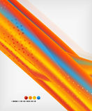 Orange straight lines geometric background Stock Image