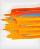 Orange straight lines geometric background Royalty Free Stock Photos