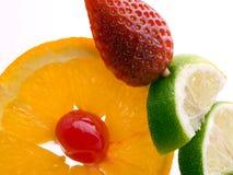 Orange strawberry and lemon Stock Photos