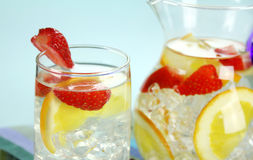 Orange And Strawberry Punch Stock Image