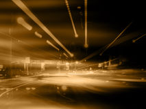 Orange Street Abstract. Artistic Background Stock Illustration