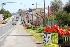 Orange street sellers Stock Images
