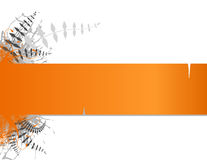 Orange stripe with place for text. Stock Images