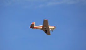 Orange Striped Airplane Stock Photography