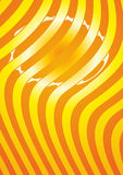 Orange striped background. With curving polosvami Royalty Free Stock Image