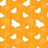Orange Striped Butterfly Seamless Tile Stock Images