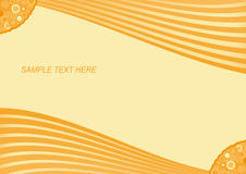 Orange striped retro background. Vector EPS 10 Royalty Free Stock Image