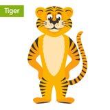 Orange striped tiger. vector illustration