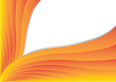 Orange stripes. In white background. space for your text Stock Photo