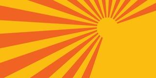 Orange stripes background flyer Stock Photo
