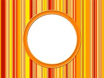 Orange Stripes Border Royalty Free Stock Photo