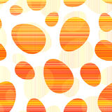 Orange stripes Easter eggs seamless pattern Stock Photos