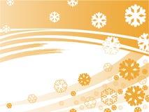 Orange stripes with snowflakes Royalty Free Stock Image