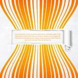 Orange stripes with white banner Stock Photo