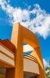 Orange Stucco Under Blue Sky Royalty Free Stock Images