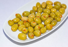 Orange Stuffed olives 1 Stock Photos