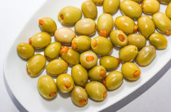 Orange Stuffed olives Stock Images