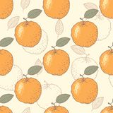 Orange stylized seamless pattern Stock Images