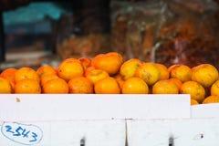 Orange. On Styrofoam in market Royalty Free Stock Photos