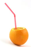 orange sugrör Royaltyfria Bilder