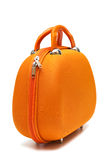 Orange suitcase Royalty Free Stock Images