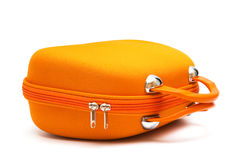 Orange suitcase Stock Images
