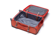 Orange suitcase Stock Images
